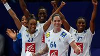 Les handballeuses françaises qualifiées pour la finale de l'Euro le 14 décembre 2018 [FRANCK FIFE / AFP]