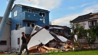 Une maison balayée par la tornade qui s'est abattue sur la ville de Koshigaya, dans la préfecture de Saitama, le 2 septembre 2013 [Kazuhiro Nogi / AFP/Archives]