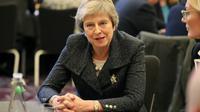 La Première ministre britannique Theresa May à Belfast, en Irlande du Nord, le 27 novembre 2018 [Liam McBurney / POOL/AFP]