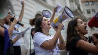 Manifestation contre le candidat d'extrême droite à la présidentielle brésilienne Jair Bolsonaro, le 29 septembre 2018 à Rio de Janeiro [Mauro Pimentel / AFP]