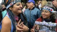 Les soutiens de Cristina Kirchner manifestent devant le tribunal à Buenos Aires, le 21 mai 2019 [JUAN MABROMATA / TELAM/AFP]