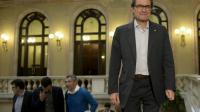 Le président catalan indépendantiste Artur Mas, à Barcelone le 1er octobre 2015 [JOSEP LAGO / AFP/Archives]