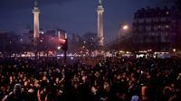 Des manifestants contre la réforme des retraites, place de la Nation à Paris le 17 décembre 2019 [Philippe LOPEZ / AFP]