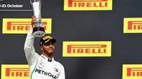 Le Britannique Lewis Hamilton 3e du GP des Etats-Unis le 21 octobre 2018 [Mark Thompson / GETTY IMAGES NORTH AMERICA/AFP]