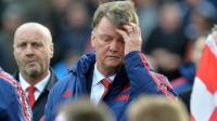 L'entraîneur de Manchester United Louis van Gaal (c) lors du match contre Stoke, le 26 décembre 2015 à Stoke-on-Trent [PAUL ELLIS / AFP]