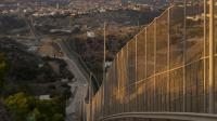 La clôture séparant l'enclave espagnole de Melilla du Maroc le 17 octobre 2013 [Pierre-Philippe Marcou / AFP/Archives]