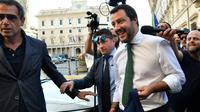 Le nouveau ministre italien de l'Intérieur Matteo Salvini, le 1er juin 2018 à Rome [Andreas SOLARO / AFP]