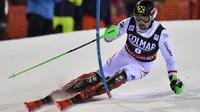 L'Autrichien Marcel Hirscher lors de la 1re manche du slalom de Madonna di Campiglio, le 22 décembre 2017  [Tiziana FABI / AFP]
