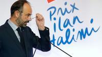 Le Premier ministre Edouard Philippe lors de la remise du Prix Ilan Halimi, le 12 février 2019 à Paris [CHARLES PLATIAU / POOL/AFP/Archives]