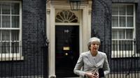 La Première ministre britannique Theresa May devant le 10 Downing Street à Londres, le 22 novembre 2018 [Ben STANSALL / AFP]