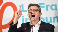 """Jean-Luc Mélenchon, leader du parti d'extrême-gauche """"La France Insoumise"""", à Paris le 19 octobre 2018 [Eric FEFERBERG / AFP/Archives]"""