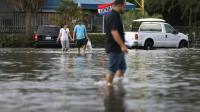 Innondations en au nord de Miami en Floride le 14 novembre 2016 [JOE RAEDLE / GETTY IMAGES NORTH AMERICA/AFP/Archives]