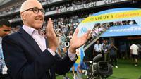 Le patron américain de l'Olympique de Marseille Frank McCourt lors du 1er match de la saison de Ligue 1 contre Toulouse, le 10 août 2018 au stade Vélodrome [Boris HORVAT / AFP/Archives]