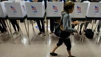 Un bureau de vote dans le Maryland, le 28 octobre 2016 [Brendan Smialowski / AFP/Archives]