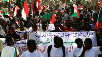 Des manifestants venus des montagnes de Nubie défilent à Khartoum, le 1er mai 2019 [- / AFP]