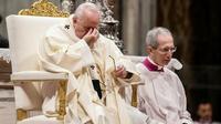 Le pape François lors d'une messe à la basilique Saint-Pierre au Vatican, le 12 décembre 2018 [Filippo MONTEFORTE / AFP]