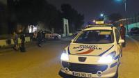 Une voiture de police sur les lieux d'une fusillade à Marseille où trois hommes ont été tués, le 3 avril 2016  [BORIS HORVAT / AFP]