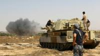 Les forces gouvernementales libyennes progressent vers la ville de Syrte, le 10 juin 2016 pour y chasser les jihadistes de l'EI [MAHMUD TURKIA / AFP]