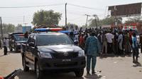 Des services de police et d'urgences à Maiduguri lors d'un attentat, le 11 décembre 2016  [STR / AFP/Archives]
