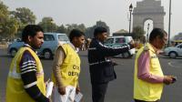 Mise en place de la circulation alternée le 1er janvier 2016 à New Delhi [MONEY SHARMA / AFP]