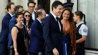 L'ancien porte-parole du gouvernement Benjamin Griveaux  (D), arrive au siège de La République en marche (LREM), à Paris, le 9 juillet 2019 [ALAIN JOCARD / AFP]