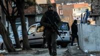 Des policiers turcs à Diyarbakir, le 24 décembre 2015 [ILYAS AKENGIN / AFP/Archives]