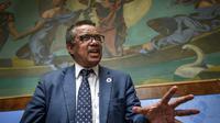 Tedros Adhanom Ghebreyesus, directeur de l'OMS, à Genève en Suisse, le 18 mai 2018 [Fabrice COFFRINI / AFP]