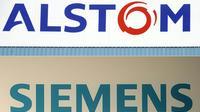 Bruxelles s'apprête à interdire la fusion de l'allemand Siemens et du français Alstom [SEBASTIEN BOZON, CHRISTOF STACHE / AFP/Archives]