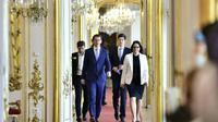 Le chancelier autrichien Sebastian Kurz arrive pour rencontrer le président autrichien, à Vienne le 19 mai 2019 [HANS PUNZ / APA/AFP]