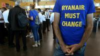 Les pilotes de Ryanair en grève à l'aéroport de Charleroi en Belgique, le 10 août 2018 [JOHN THYS / AFP/Archives]