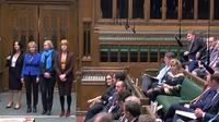 Les trois députées qui ont quitté le 20 février 2019 le Parti conservateur, sur une photo fournie par le Parlement britannique. [HO / PRU/AFP]