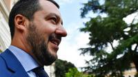 Le ministre italien de l'Intérieur Matteo Salvini à Rome, le 20 juin 2018 [Alberto PIZZOLI / AFP]
