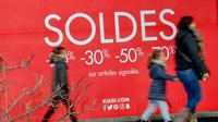 A Bailleul, dans le Nord, le 9 janvier 2019. Selon l'Insee, la demande intérieure a contribué à hauteur de 0,3 point de PIB à la croissance du premier trimestre [Philippe HUGUEN / AFP/Archives]