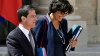 Le Premier ministre Manuel Valls et la ministre du Travail Myriam El Khomri, le 25 mai 2016 à Paris [ALAIN JOCARD / AFP/Archives]