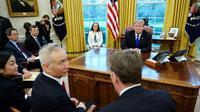 Le président américain Donald Trump et le vice-premier ministre chinois Liu He, dans le Bureau ovale, le 22 février 2019  [MANDEL NGAN / AFP/Archives]