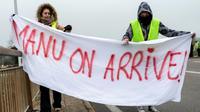 """Une manifestation de """"gilets jaunes"""" à Montceau-les-Mines le 23 novembre 2018 [ROMAIN LAFABREGUE / AFP]"""