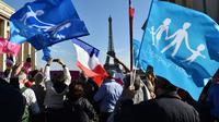 """Manifestation de militants de la """"Manif pour tous"""", le 16 octobre 2016 à Paris [CHRISTOPHE ARCHAMBAULT / AFP/Archives]"""
