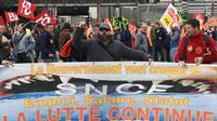 Manifestation à Marseille contre la réforme de la SNCF le 9 avril 2018 [BORIS HORVAT / AFP]