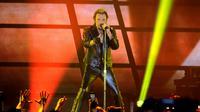 Johnny Hallyday sur scène à Bordeaux, le 2 juin 2013 [Nicolas Tucat / AFP/Archives]