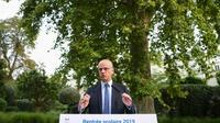 Le ministre de l'Education, Jean-Michel Blanquer lors d'une conférence de presse sur la rentrée scolaire, le 27 août 2019 à Paris [CHRISTOPHE ARCHAMBAULT  / AFP]