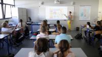 """""""Les enseignants français sont un peu livrés à eux-mêmes"""" au collège, selon l'OCDE [Jean-Christophe Verhaegen / AFP/Archives]"""