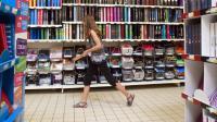 Courses de rentrée dans un supermarché de Labège près de Toulouse le 20 août 2015 [Remy Gabalda / AFP]
