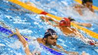 Florent Manaudou à l'entraînement à l'Olympic Aquatics Stadium le 4 août 2016 à Rio [GABRIEL BOUYS / AFP]