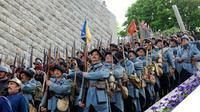 """Répétition du défilé des """"reconstitueurs"""" le 27 mai 2016 à Verdun [JEAN-CHRISTOPHE VERHAEGEN / AFP]"""