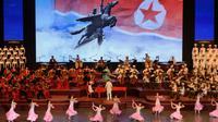 Concert donné à Pyongyang le 8 septembre 2018, à la veille du 70e anniversaire de la Corée du Nord [Ed JONES / AFP]