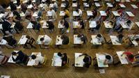 L'épreuve de philosophie au lycée Pasteur à Strasbourg le 18 juin 2018 [FREDERICK FLORIN / AFP]