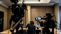 Conférence de presse de Mme Grace Meng, épouse du président d'Interpol disparu depuis plus de dix jours, le 7 octobre 2018 à Lyon, siège d'Interpol [JEFF PACHOUD / AFP]