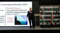 """Le Premier ministre israélien Benjamin Netanyahou affirme le 30 avril 2018 dans les locaux du ministère de la Défense à Tel-Aviv qu'Israël dispose de nouvelles """"preuves concluantes"""" d'un programme nucléaire iranien secret [Jack GUEZ  / AFP]"""