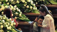 Cérémonie de funérailles nationales des victimes de l'effondrement du pont à Gênes, en Italie, le 18 août 2018 [Piero CRUCIATTI / AFP]