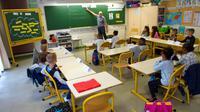 Dans une salle de classe à Clermont-Ferrand, le 4 septembre 2017 [Thierry Zoccolan / AFP/Archives]